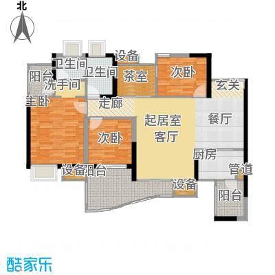 中渝山顶道国宾城101.81㎡二期7号楼标准层C1户型