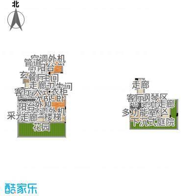 香漫溪岸219.09㎡一期1号楼2单元1楼1号A3室户型