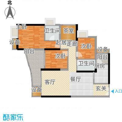 中渝山顶道国宾城101.00㎡二期8号楼标准层B4户型