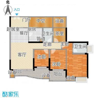 中渝山顶道国宾城108.49㎡二期7号楼标准层C3户型