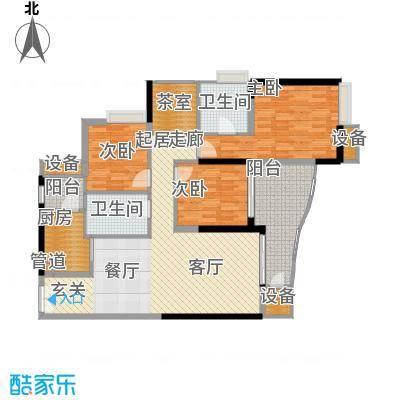 中渝山顶道国宾城100.92㎡二期7号楼标准层C4户型