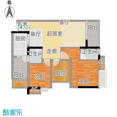 浩博方山境95.00㎡2期15号楼3、6号房标准层户型