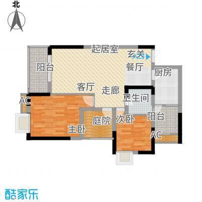 浩博方山境83.00㎡2期15号楼4号房标准层户型