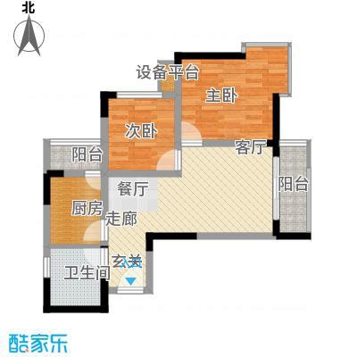 骏逸新视界58.58㎡面积5858m户型