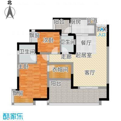 和泓南山道90.78㎡16号楼4/5号房面积9078m户型
