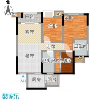 融创凡尔赛领馆80.60㎡二期高层3号楼标准层C2号房户型