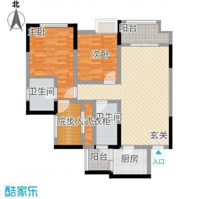 融创凡尔赛领馆80.60㎡二期高层3号楼标准层C1号房户型