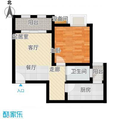 金佛美庐59.75㎡二期1号楼标准层G2户型