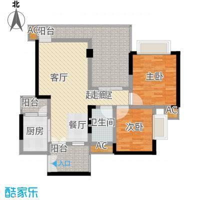 鹏润蓝海70.79㎡C-4/5-A(已售完面积7079m户型