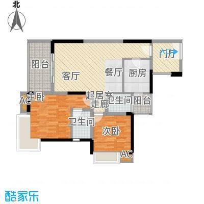 鹏润蓝海75.57㎡C-2/3-C(已售完面积7557m户型