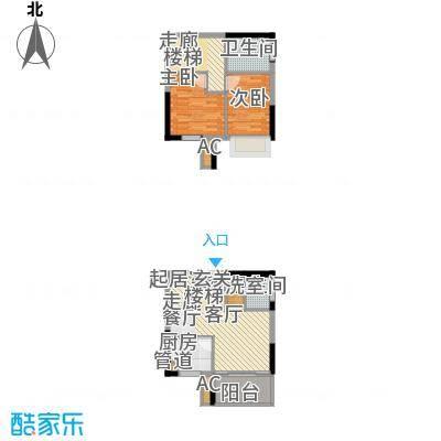 鹏润蓝海63.10㎡A2-H面积6310m户型