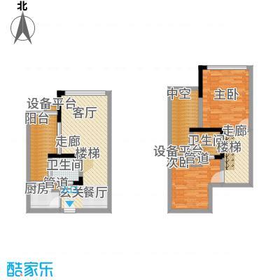 东海岸55.51㎡一期B11号楼2面积5551m户型