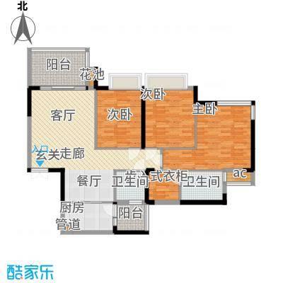 富洲新城97.43㎡1期3号楼标准层面积9743m户型