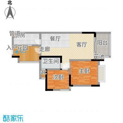 富洲新城71.45㎡江河水组团9号楼面积7145m户型