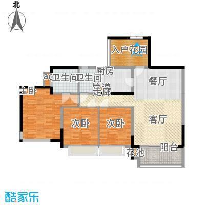 富洲新城106.46㎡一期10号楼标准面积10646m户型