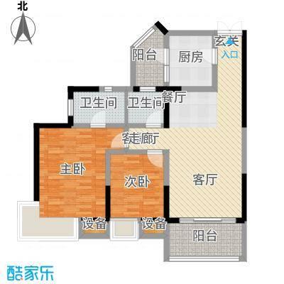 金辉融侨半岛香弥山1号78.44㎡1面积7844m户型