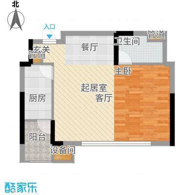 重庆天地雍江艺庭55.00㎡tower-面积5500m户型