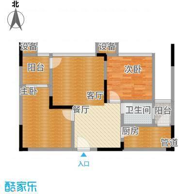 华宇金沙港湾65.51㎡F栋2-17层3面积6551m户型
