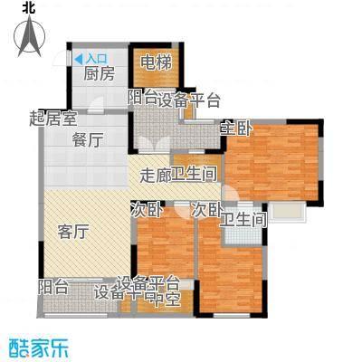 凤凰湾驭府119.00㎡二期27/28号楼标准层户型