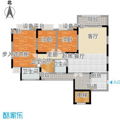 凤凰湾驭府152.00㎡二期27/28号楼标准层户型