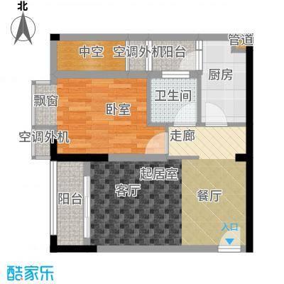 芸峰天梭派45.59㎡二期5/6号楼标面积4559m户型