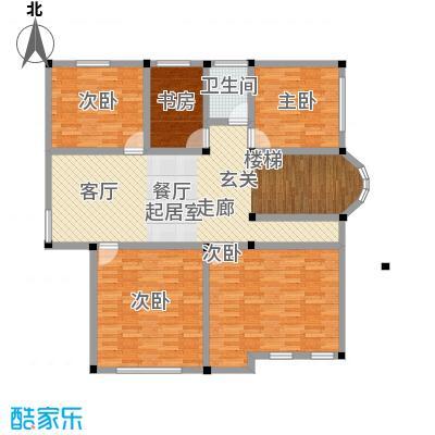 塑皇观云邸269.48㎡一期11栋B2二层户型