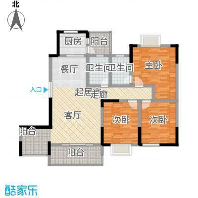 黔源蓝湖星宇123.33㎡一期3号楼标准层F户型