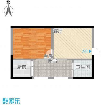 兰波红城丽景45.24㎡B-5面积4524m户型