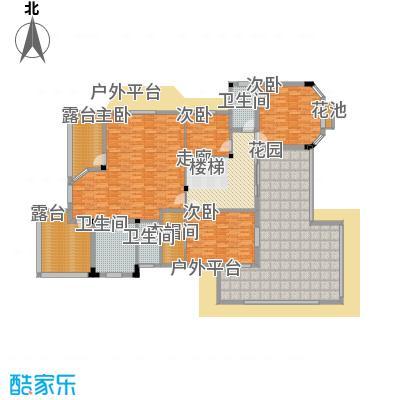塑皇观云邸385.75㎡一期1/2栋A1二层户型
