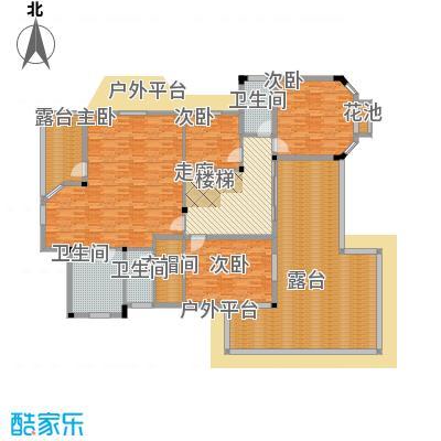 塑皇观云邸371.68㎡一期8栋A2二层户型