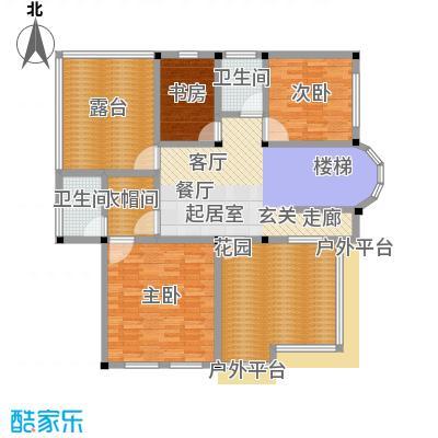 塑皇观云邸371.68㎡一期11栋B2三层户型