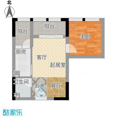 宝嘉花与山37.01㎡一期A1号楼标准层D户型
