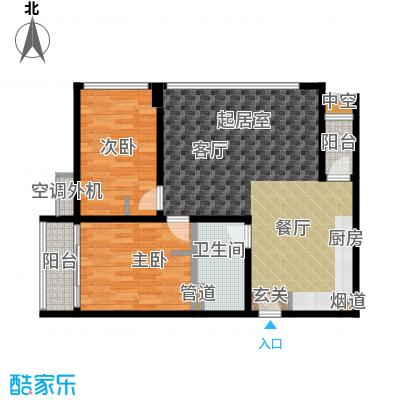 新宝龙易城74.37㎡4-121面积7437m户型