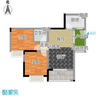 永缘城市交响65.44㎡一期4号楼标准层户型
