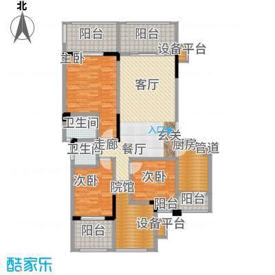 宇界维诗卡125.53㎡二期8-11栋第五层户型