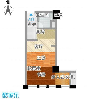 光宇尚滨国际52.04㎡一期1栋标准层3/16号户型