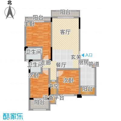 宇界维诗卡114.87㎡二期8-11栋标准层户型