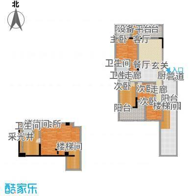 宇界维诗卡141.50㎡二期8-11栋标准层户型