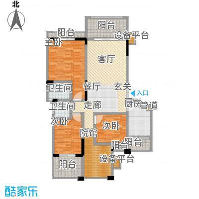 宇界维诗卡126.91㎡二期8-11栋标准层户型