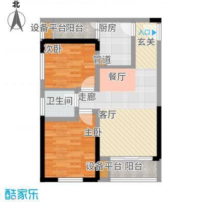 学林佳苑57.72㎡B5、B10面积5772m户型