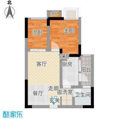 七彩景秀52.70㎡一期2号楼标准层C户型