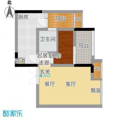 科艺福江名都39.56㎡1期7号楼标准层6号房户型