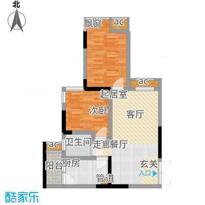 科艺福江名都54.18㎡1期7号楼标准层3号房户型