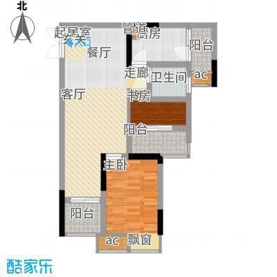科艺福江名都58.46㎡1期7号楼标准层8号房户型
