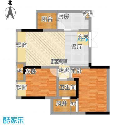 科艺福江名都60.04㎡1期7号楼标准层1号房户型