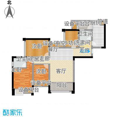 东原D7区92.69㎡二期2号楼标准层H户型