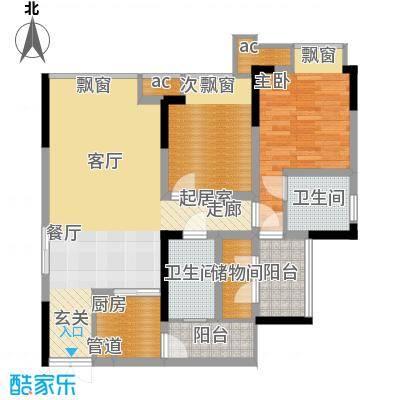 科艺福江名都74.80㎡1期7号楼标准层4号房户型