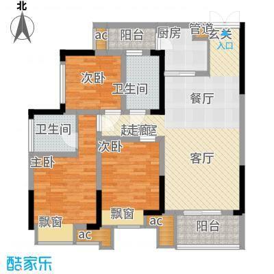 科艺福江名都82.79㎡1期7号楼标准层9号房户型