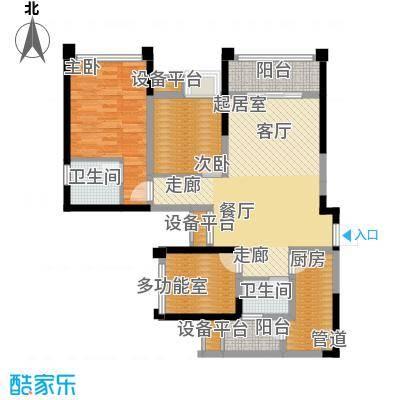 东原D7区83.22㎡二期2号楼标准层D户型