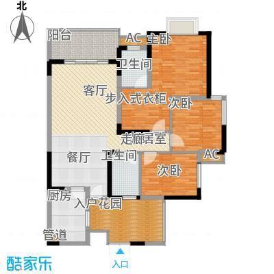 瀚恩韵动104.00㎡B1栋1、2、4、5号房标准层户型